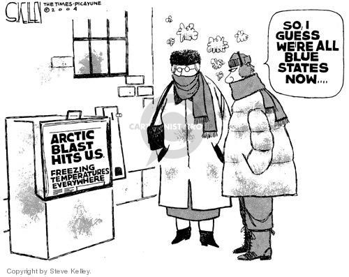 Steve Kelley  Steve Kelley's Editorial Cartoons 2004-12-27 blue
