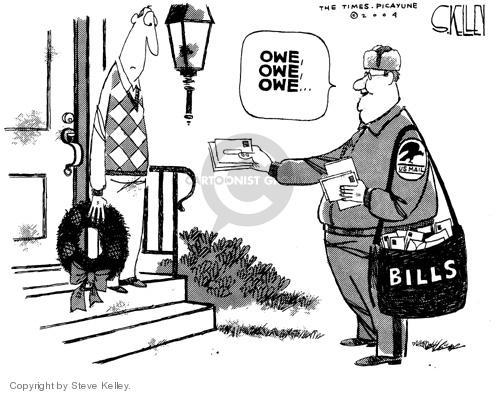 Steve Kelley  Steve Kelley's Editorial Cartoons 2004-12-30 mailman
