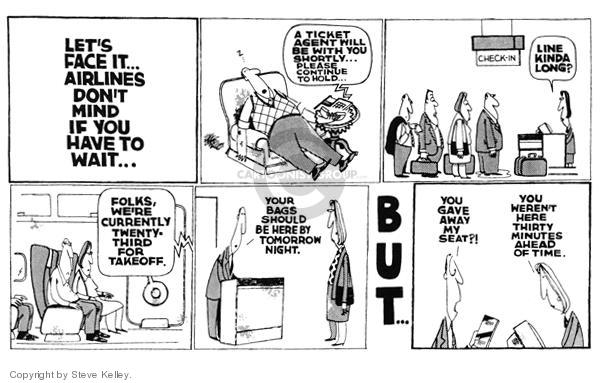 Steve Kelley  Steve Kelley's Editorial Cartoons 1999-01-01 airplane travel