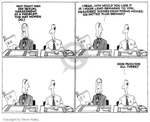 Cartoonist Steve Kelley  Steve Kelley's Editorial Cartoons 1999-01-01 equal rights