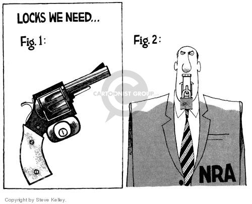 Cartoonist Steve Kelley  Steve Kelley's Editorial Cartoons 1999-01-01 gun control