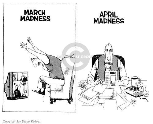 Steve Kelley  Steve Kelley's Editorial Cartoons 1999-01-01 tax deadline