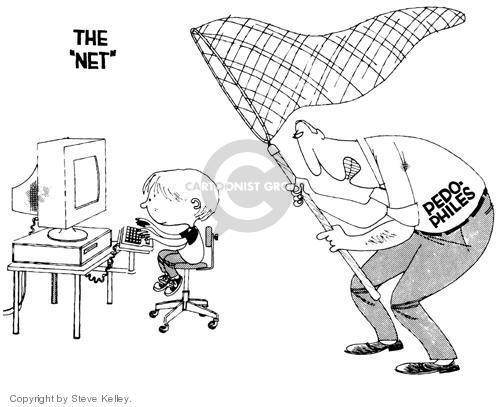 Cartoonist Steve Kelley  Steve Kelley's Editorial Cartoons 1999-01-01 computer monitor