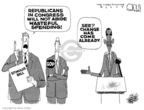 Cartoonist Steve Kelley  Steve Kelley's Editorial Cartoons 2009-02-11 bipartisan