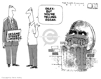 Cartoonist Steve Kelley  Steve Kelley's Editorial Cartoons 2009-03-16 Oscar