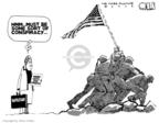 Cartoonist Steve Kelley  Steve Kelley's Editorial Cartoons 2009-04-20 extremist