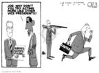 Cartoonist Steve Kelley  Steve Kelley's Editorial Cartoons 2009-07-09 gun
