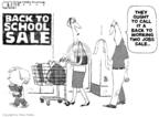 Cartoonist Steve Kelley  Steve Kelley's Editorial Cartoons 2009-08-11 school supply