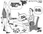 Cartoonist Steve Kelley  Steve Kelley's Editorial Cartoons 2010-05-25 scandal