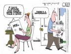 Cartoonist Steve Kelley  Steve Kelley's Editorial Cartoons 2010-07-02 spouse