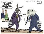 Cartoonist Steve Kelley  Steve Kelley's Editorial Cartoons 2010-09-22 partisan politics