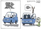 Cartoonist Steve Kelley  Steve Kelley's Editorial Cartoons 2010-10-22 new car