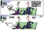 Cartoonist Steve Kelley  Steve Kelley's Editorial Cartoons 2011-04-20 partisan politics