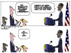 Cartoonist Steve Kelley  Steve Kelley's Editorial Cartoons 2011-07-19 partisan politics