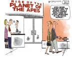 Cartoonist Steve Kelley  Steve Kelley's Editorial Cartoons 2011-08-10 human