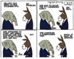Cartoonist Steve Kelley  Steve Kelley's Editorial Cartoons 2016-09-13 knee