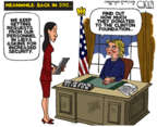 Cartoonist Steve Kelley  Steve Kelley's Editorial Cartoons 2016-10-27 2012 election