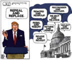 Cartoonist Steve Kelley  Steve Kelley's Editorial Cartoons 2017-03-23 medical