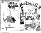 Cartoonist Steve Kelley  Steve Kelley's Editorial Cartoons 2005-09-06 baseball hit