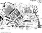 Cartoonist Steve Kelley  Steve Kelley's Editorial Cartoons 2004-09-16 hot weather