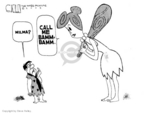 Cartoonist Steve Kelley  Steve Kelley's Editorial Cartoons 2005-10-20 Flintstone