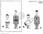 Cartoonist Steve Kelley  Steve Kelley's Editorial Cartoons 2006-07-06 Kim Il-Sung