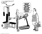 Cartoonist Steve Kelley  Steve Kelley's Editorial Cartoons 2006-09-01 fitness