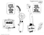 Cartoonist Steve Kelley  Steve Kelley's Editorial Cartoons 2007-04-18 gun