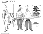 Cartoonist Steve Kelley  Steve Kelley's Editorial Cartoons 2008-08-22 food