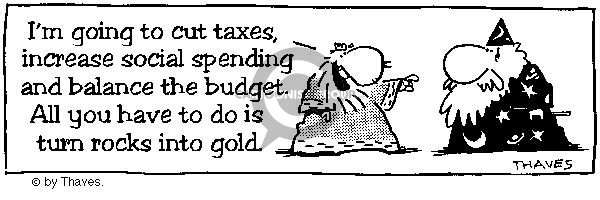Comic Strip Bob Thaves  King Baloo 1989-03-29 government budget