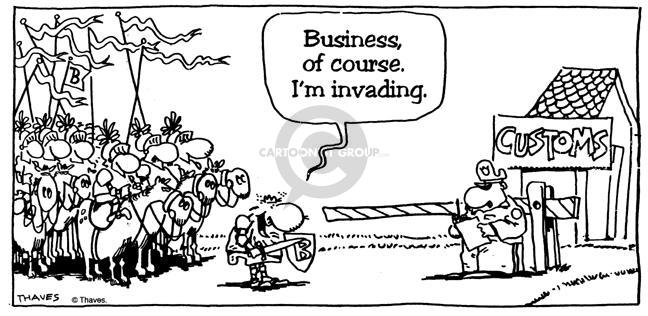 Cartoonist Bob Thaves  King Baloo 1990-01-01 military