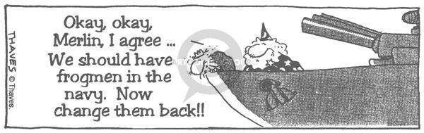 Comic Strip Bob Thaves  King Baloo 1990-01-01 ruler