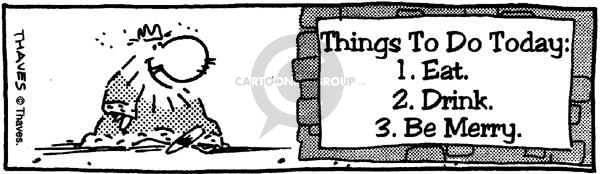Comic Strip Bob Thaves  King Baloo 1990-01-01 list