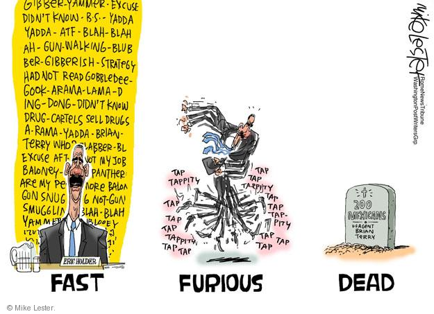 Cartoonist Mike Lester  Mike Lester's Editorial Cartoons 2011-11-11 Eric Holder
