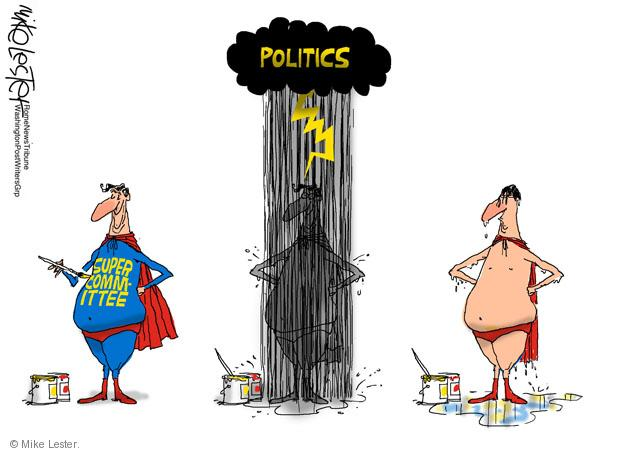 Cartoonist Mike Lester  Mike Lester's Editorial Cartoons 2011-11-27 congressional committee