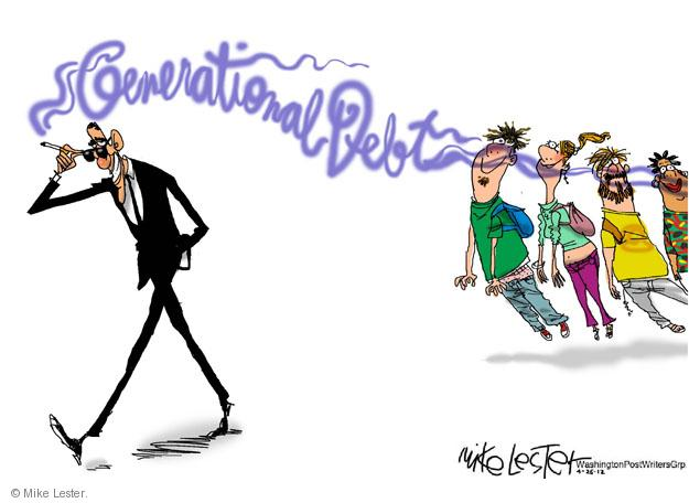 Cartoonist Mike Lester  Mike Lester's Editorial Cartoons 2012-04-26 Barack Obama debt