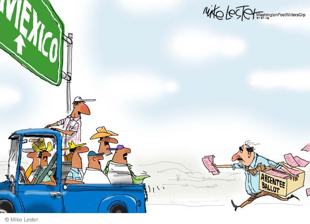 Mike Lester  Mike Lester's Editorial Cartoons 2012-04-27 voter fraud