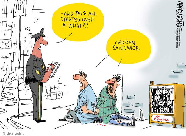 Cartoonist Mike Lester  Mike Lester's Editorial Cartoons 2012-07-28 economy