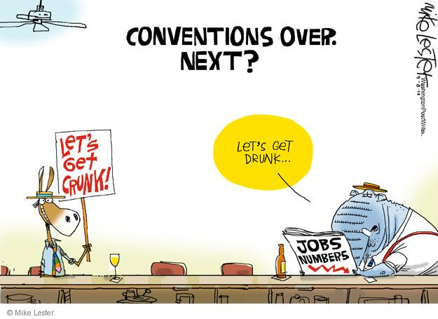 Cartoonist Mike Lester  Mike Lester's Editorial Cartoons 2012-09-08 unemployment rate