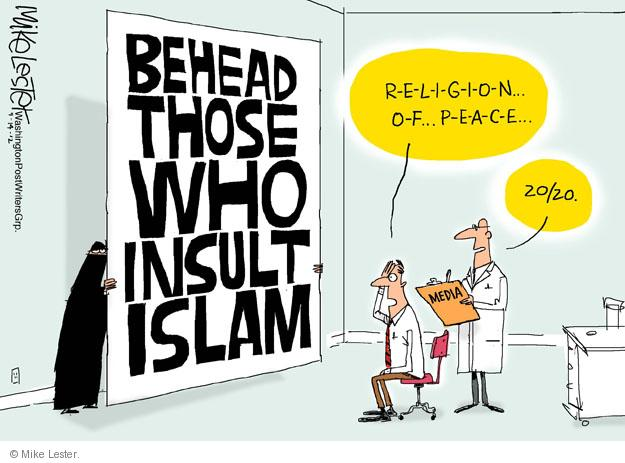 Image result for islam religion of peace cartoon