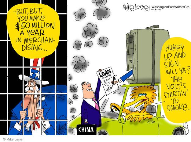 Cartoonist Mike Lester  Mike Lester's Editorial Cartoons 2012-10-06 loan