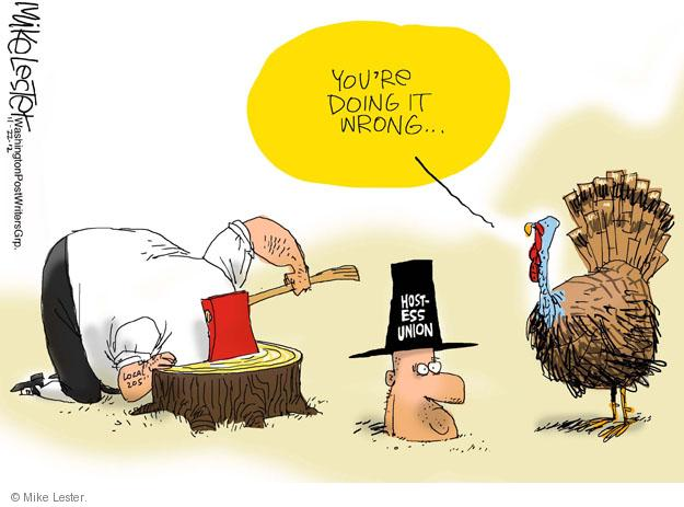 Cartoonist Mike Lester  Mike Lester's Editorial Cartoons 2012-11-22 business