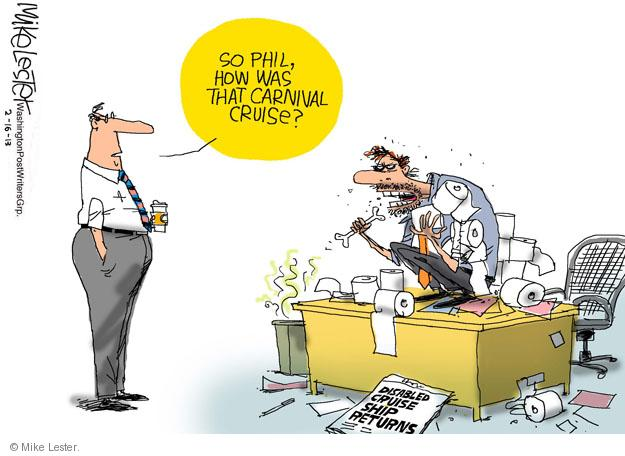 Cartoonist Mike Lester  Mike Lester's Editorial Cartoons 2013-02-16 line