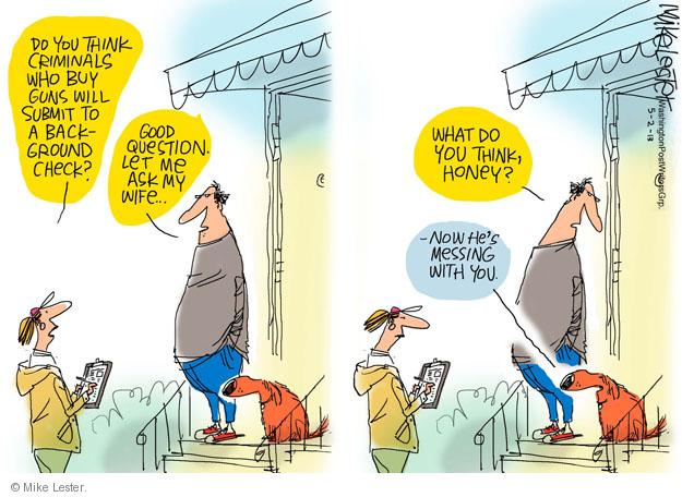 Cartoonist Mike Lester  Mike Lester's Editorial Cartoons 2013-05-02 question