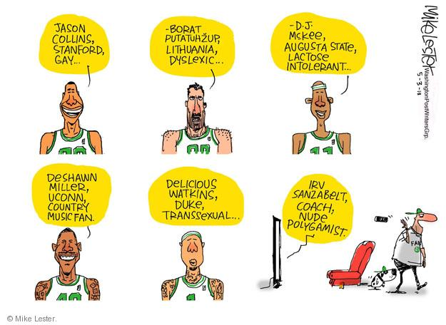 Mike Lester  Mike Lester's Editorial Cartoons 2013-05-03 basketball