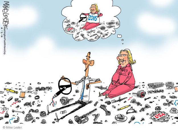 Cartoonist Mike Lester  Mike Lester's Editorial Cartoons 2013-06-02 Obama administration