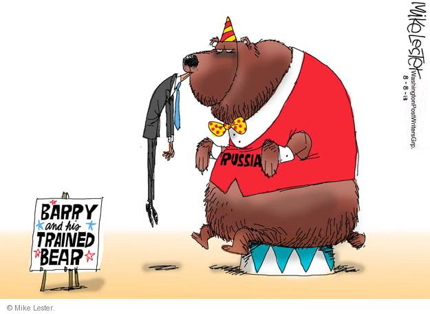 Barry the Trained Bear. Russia.