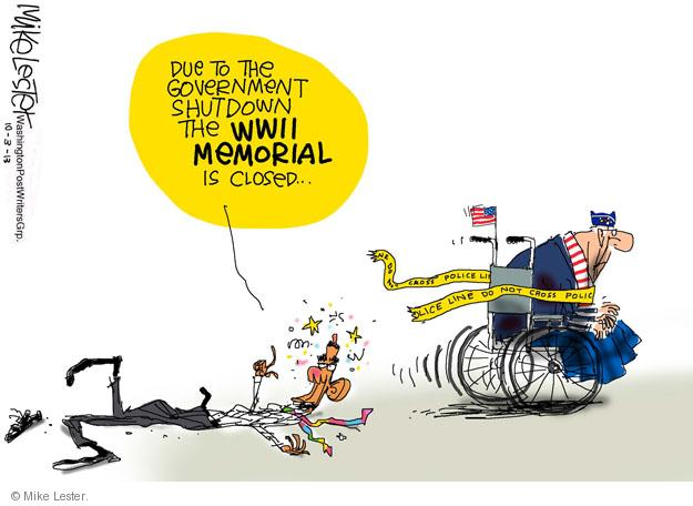 Cartoonist Mike Lester  Mike Lester's Editorial Cartoons 2013-10-03 Washington, DC