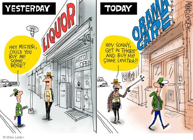 Cartoonist Mike Lester  Mike Lester's Editorial Cartoons 2014-01-18 affordable care act