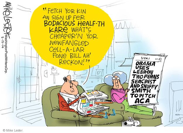 Cartoonist Mike Lester  Mike Lester's Editorial Cartoons 2014-03-17 health care policy